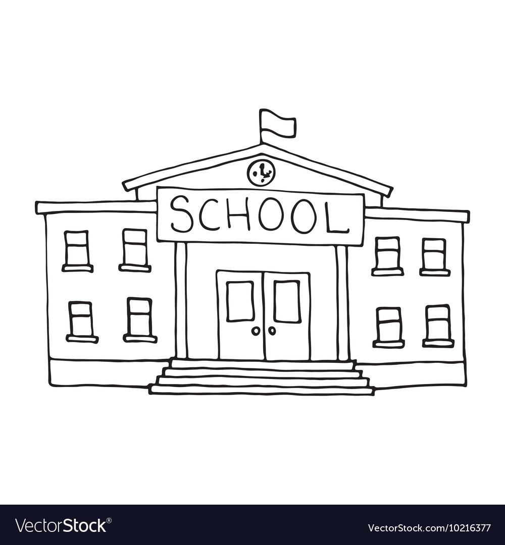 Doodle Design Vector Free Building