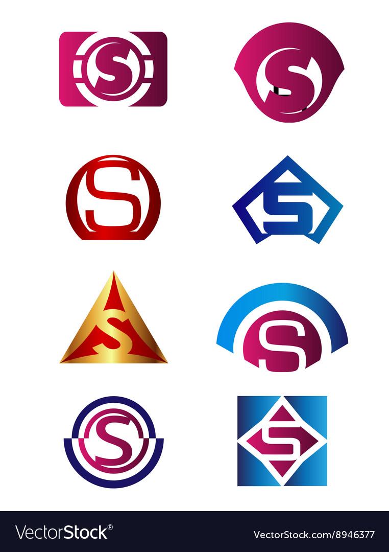 Set of letter S logo Branding Identity Corporate