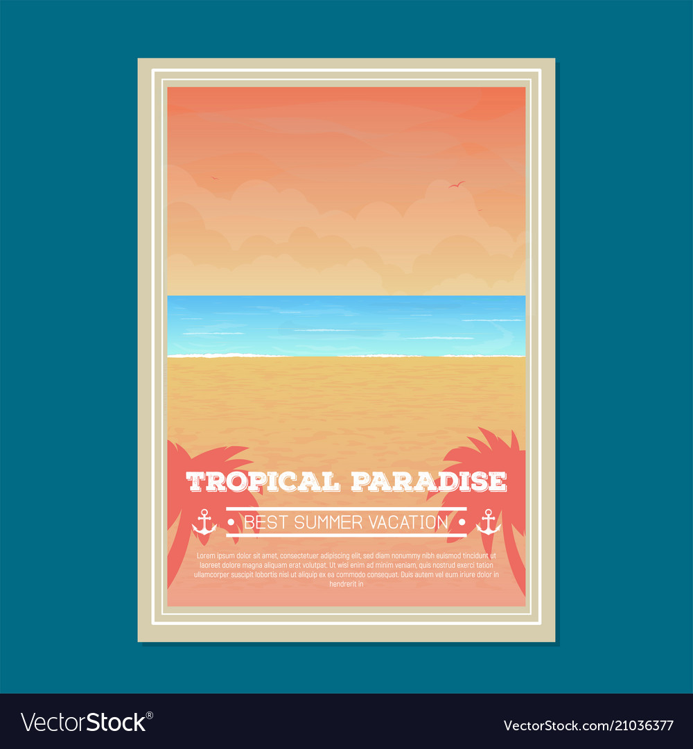 Summer beach holiday banner