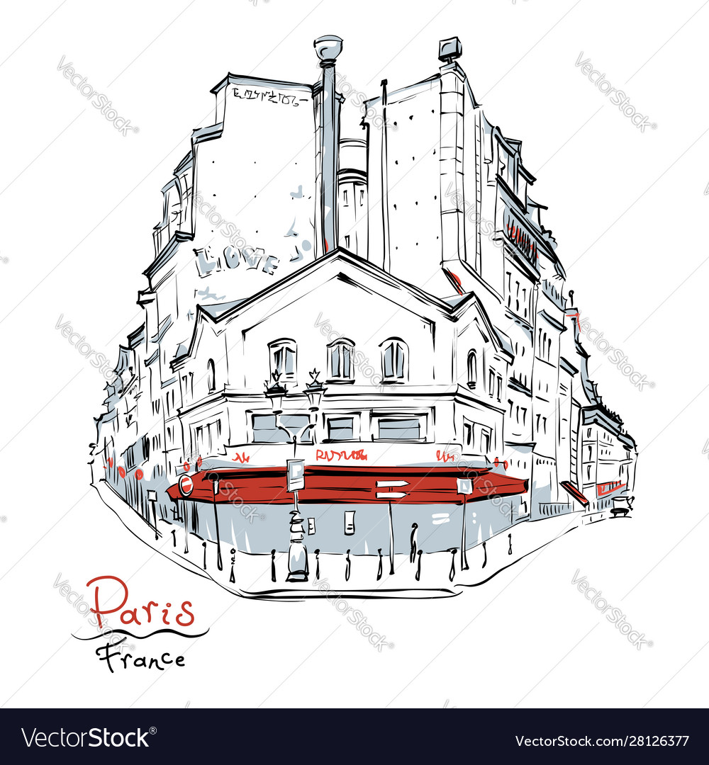 Typical parisian house france