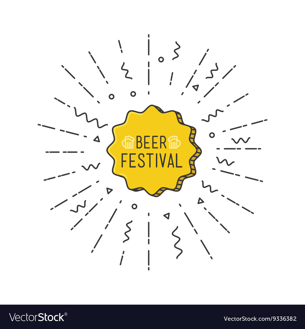Beer festival shining banner colorful background