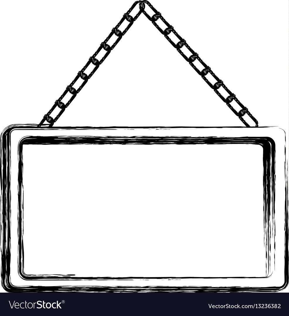 Contour square painting frame icon vector image