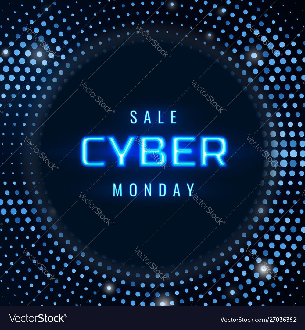 Cyber monday sale technology background