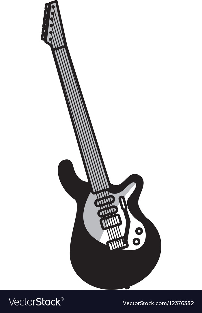 Electric guitar instrument icon