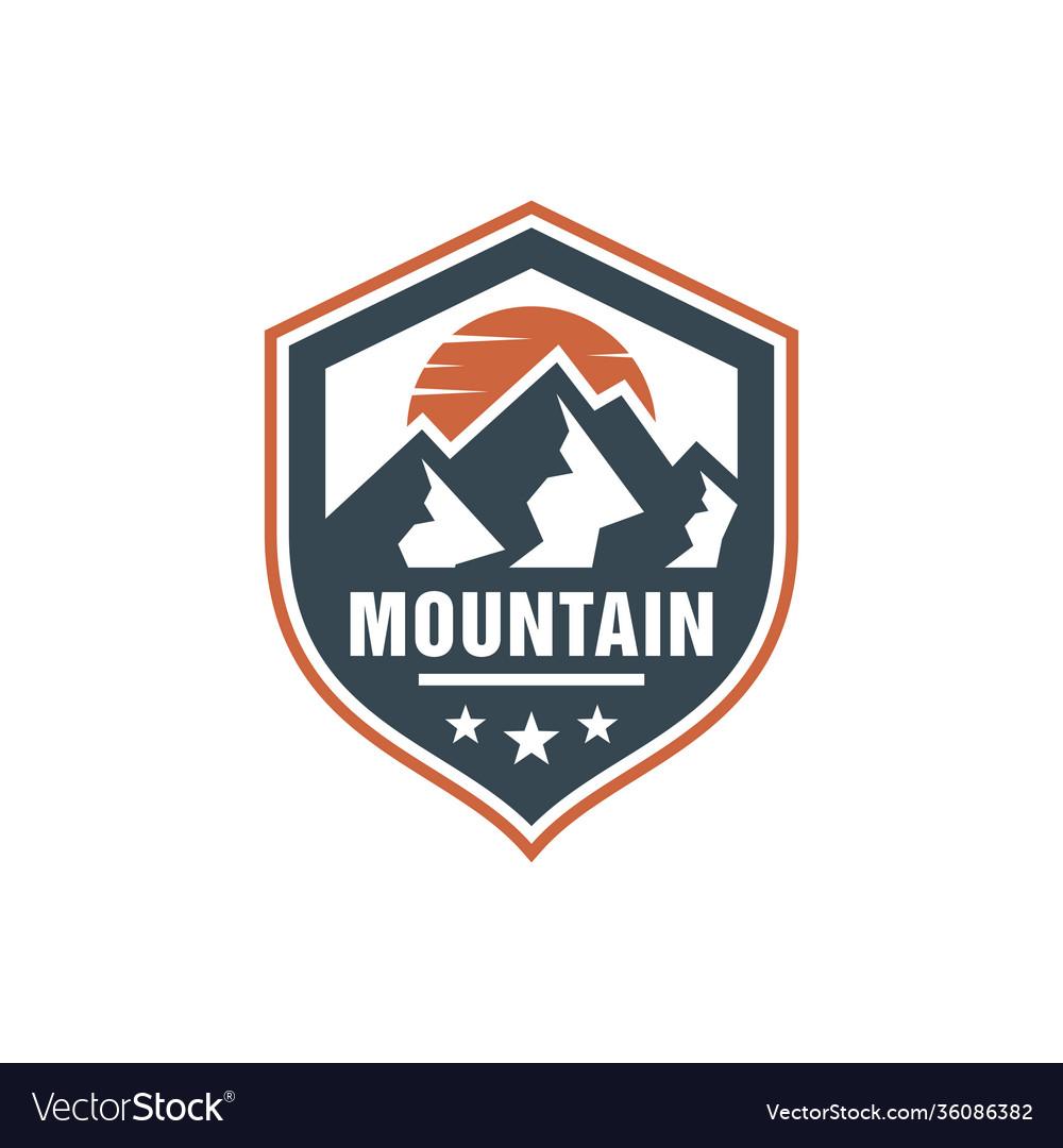 Mountain nature scenery emblem logo