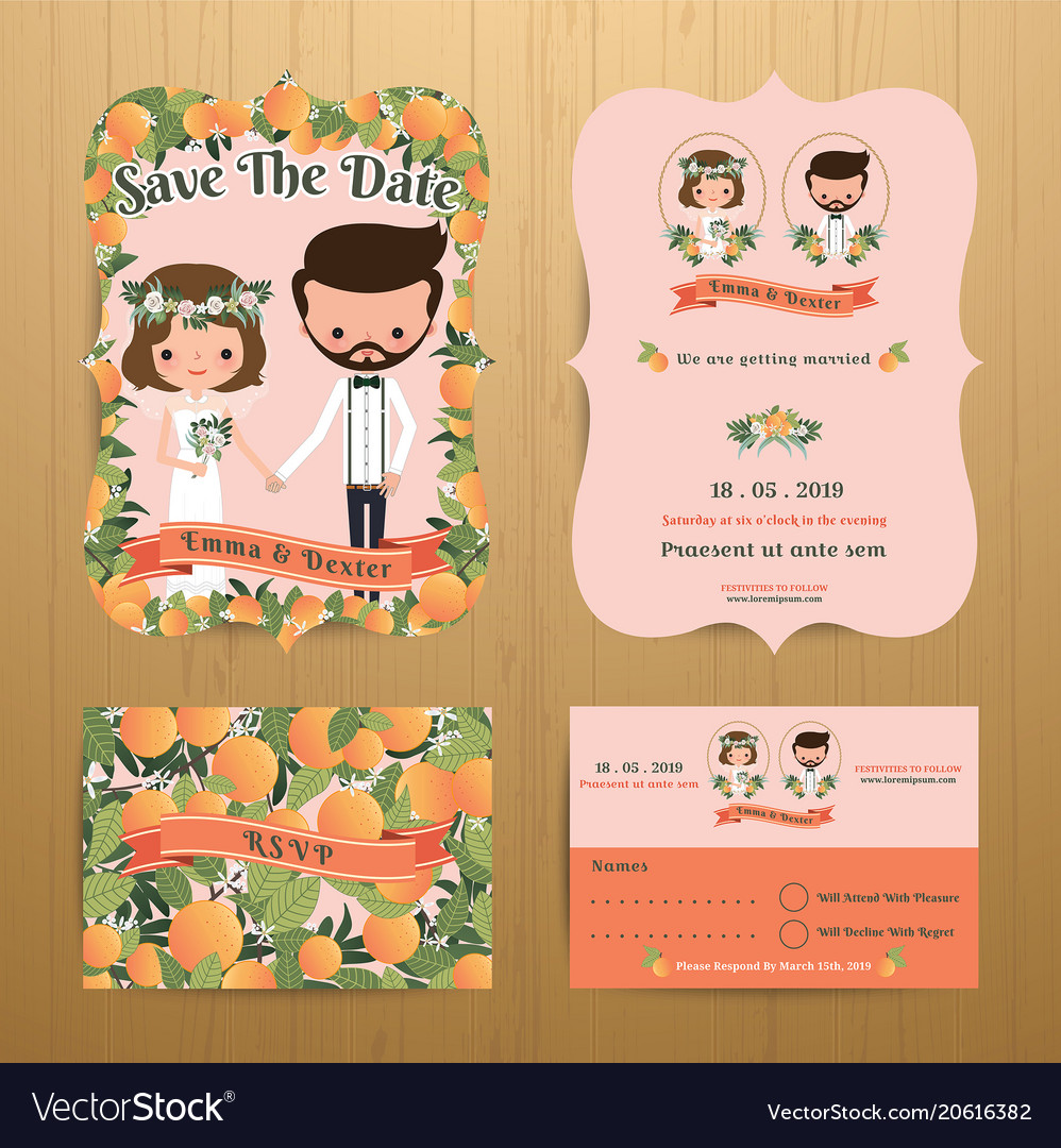 Orange orchard theme wedding couple bride amp