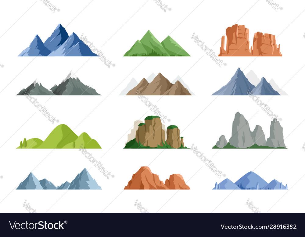 Snowy mountains and mountain peak
