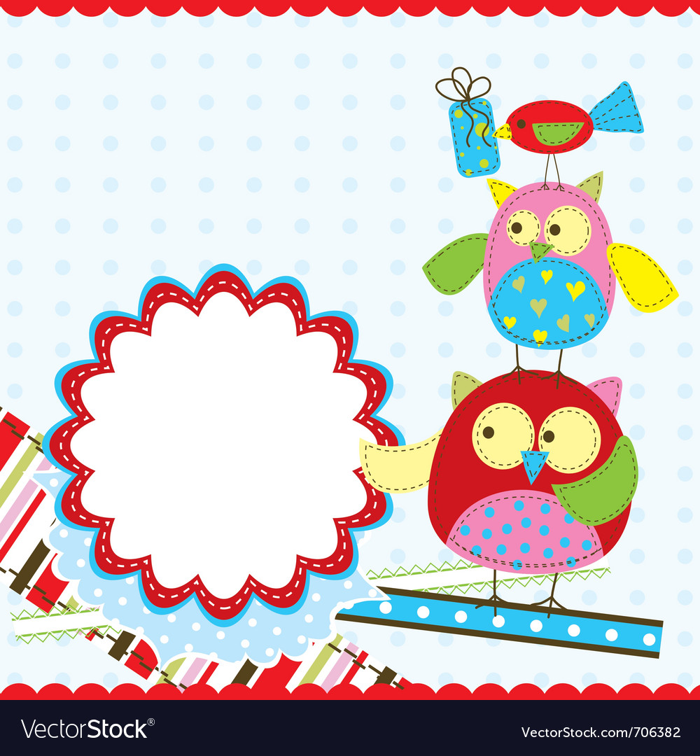 template birthday greeting card royalty free vector image
