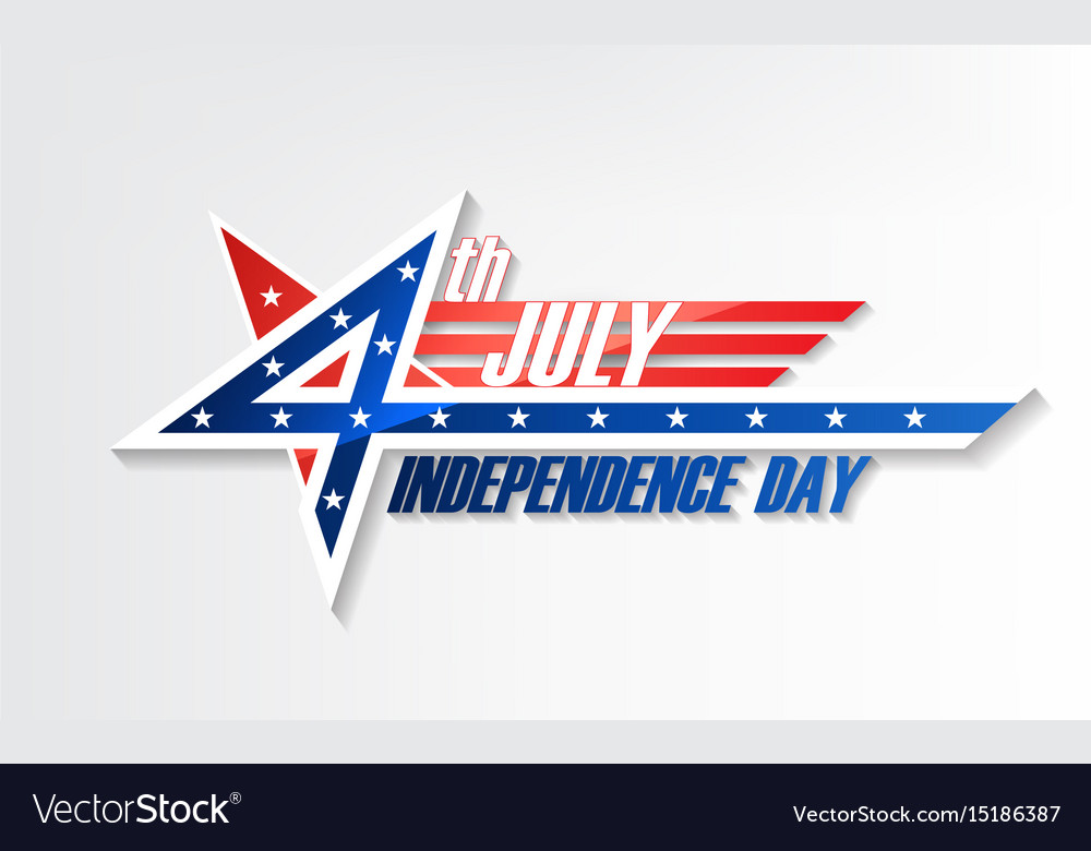 4th of july united stated independence day logo