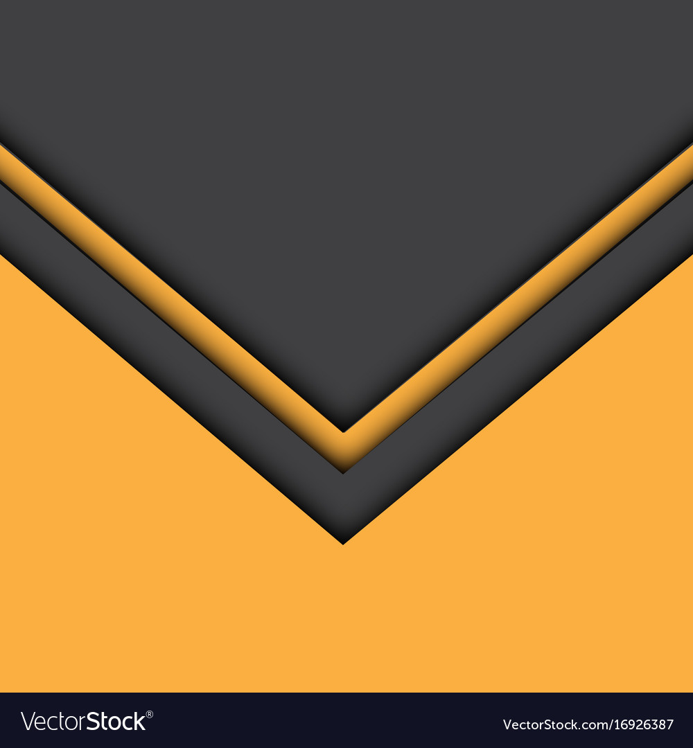 Abstract Yellow Gray Arrow Background Vector Image