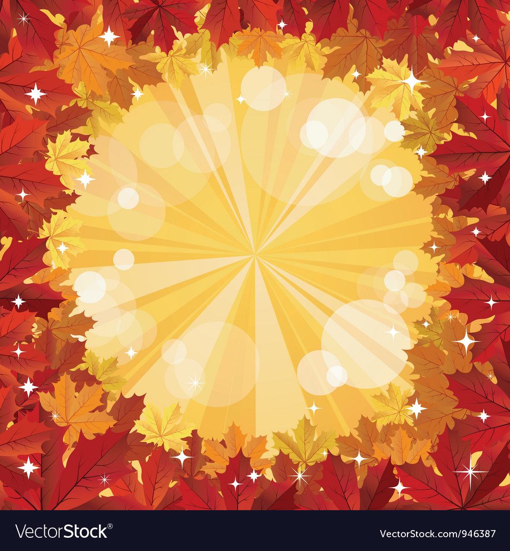 Autumn background with space for text