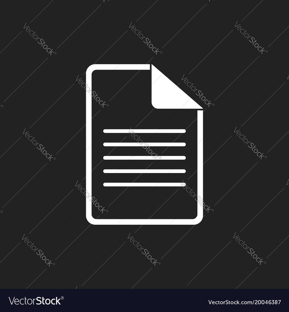 Document icon flat isolated documents symbol
