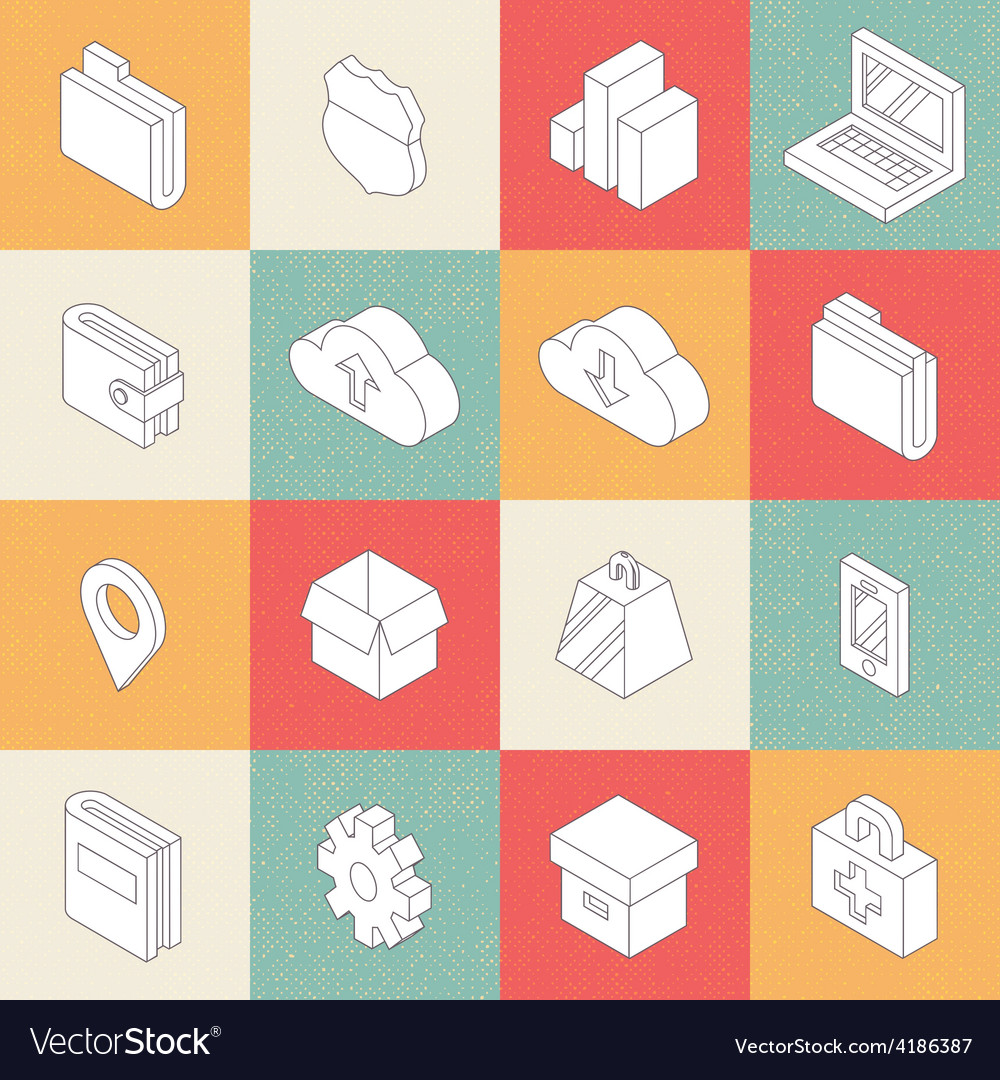 Modern Flat Icons 4 vector image