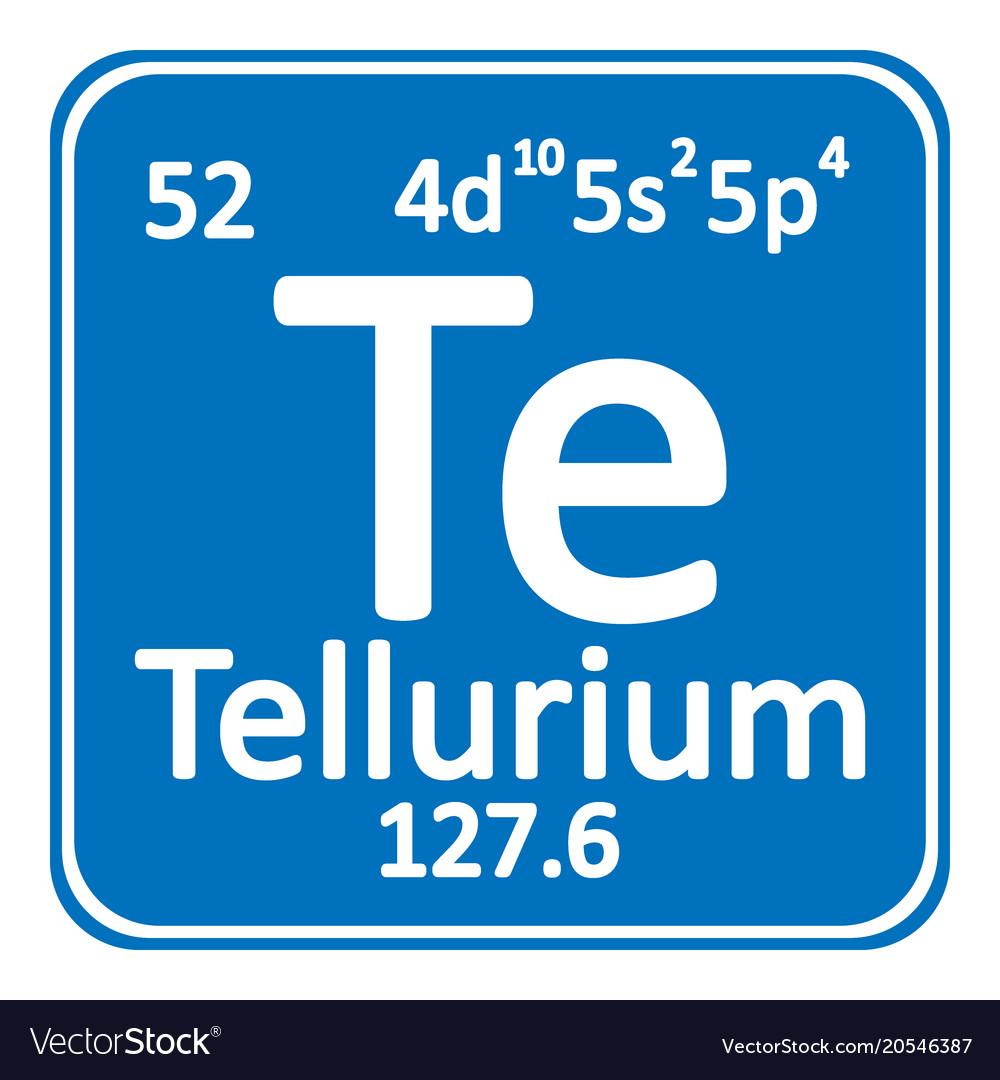 Periodic Table Element Tellurium Icon Royalty Free Vector