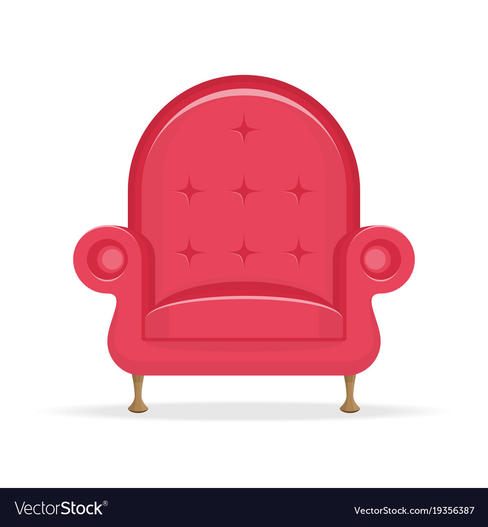 Red Vintage Sofa Royalty Free Vector Image Vectorstock