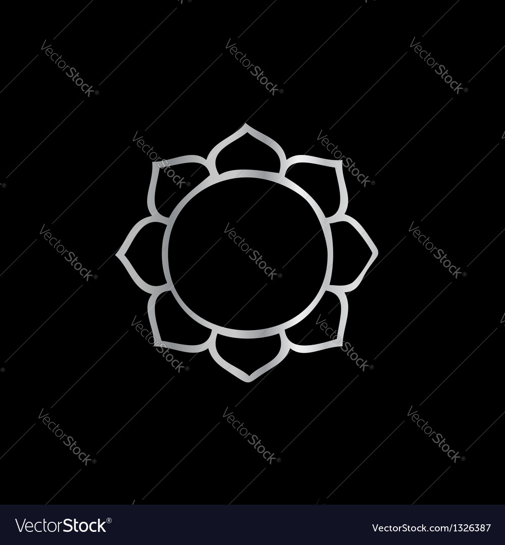 Symbol Of Buddhism Lotus Flower Royalty Free Vector Image