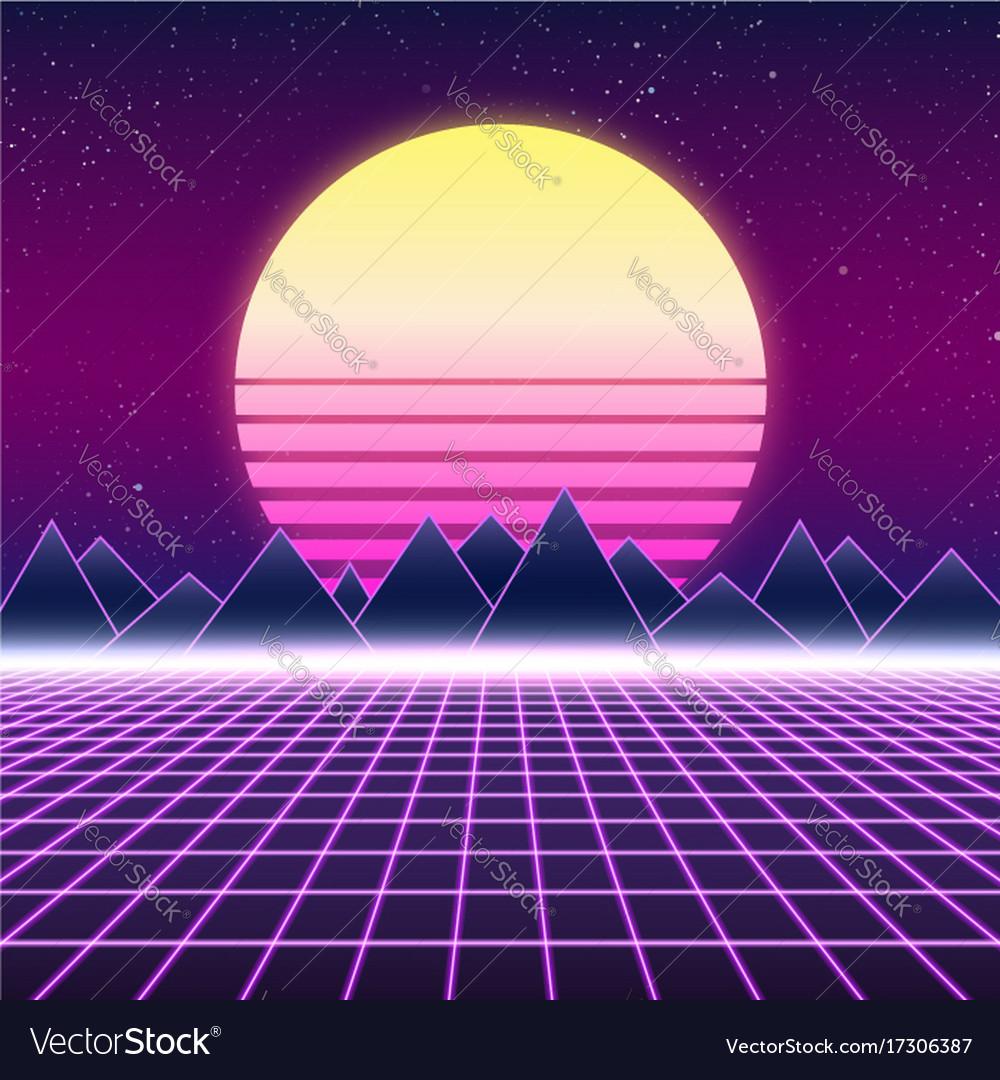 synthwave retro design mountains and sun vector image sun vector grasshopper sun vector photos