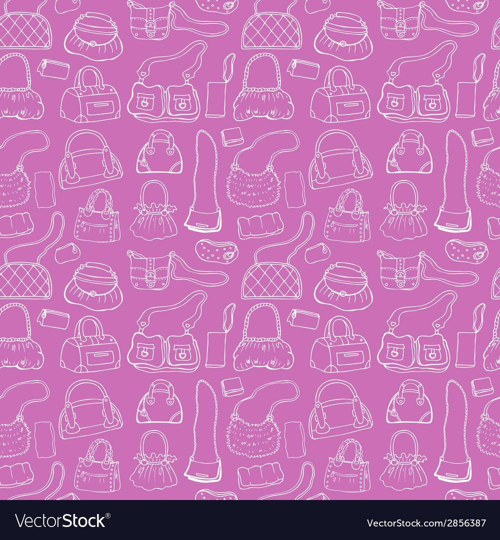 Women handbags seamless pattern