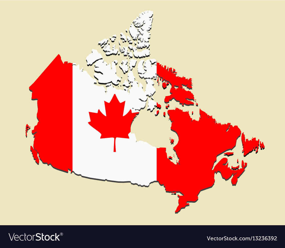 Map Of Canada Red.Canada Map Flag