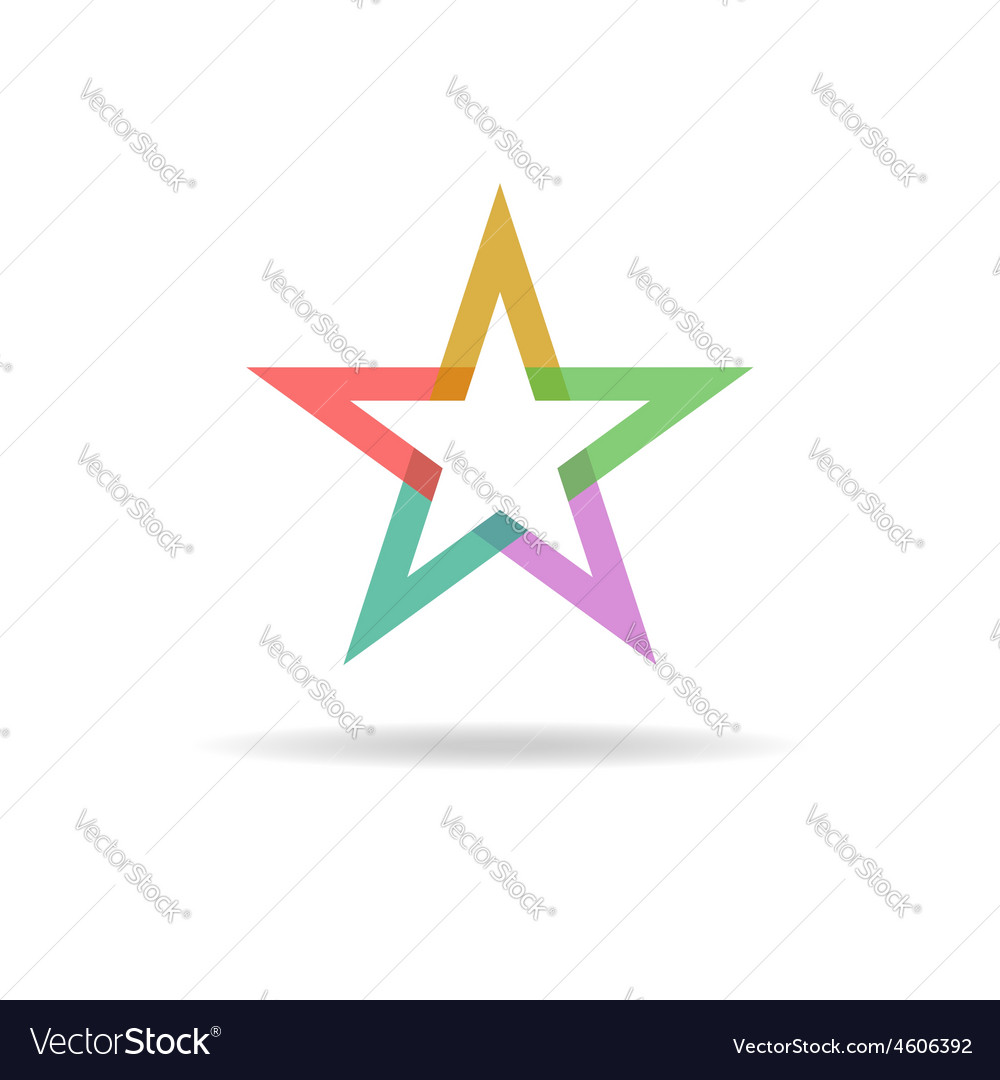 Colorful star abstract business logo design