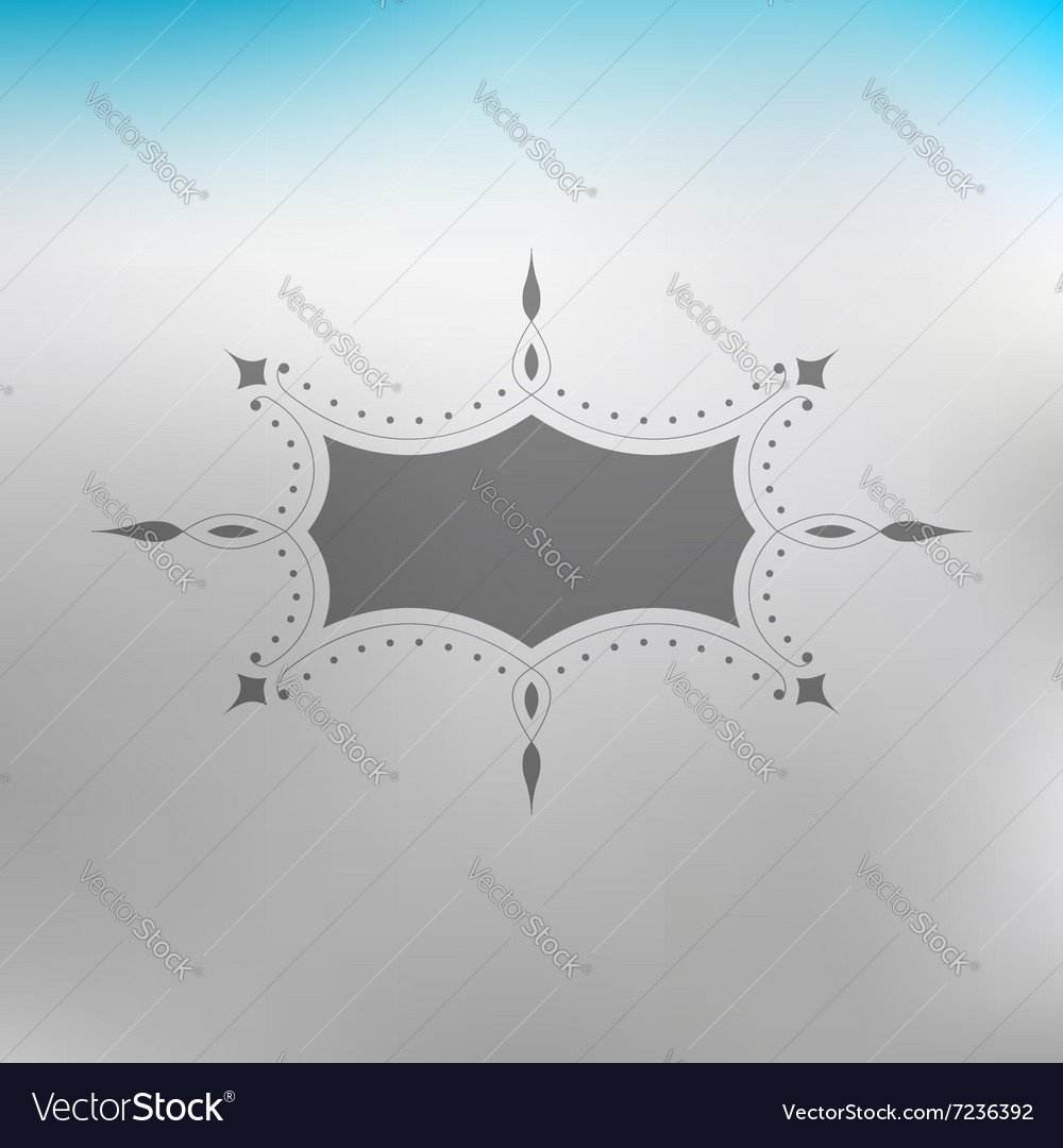 Flourishes Calligraphic Frame Template vector image