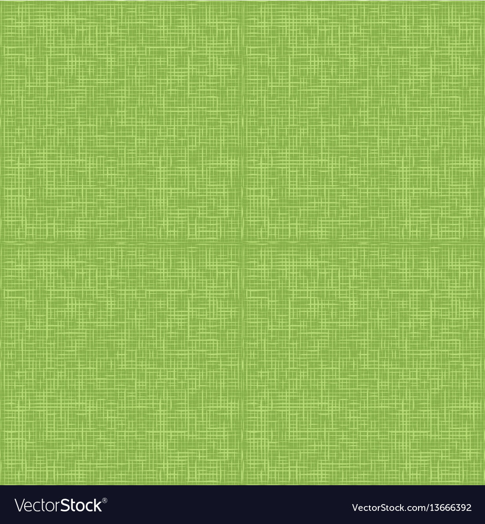 Green sack fabric textile seamless pattern vector image