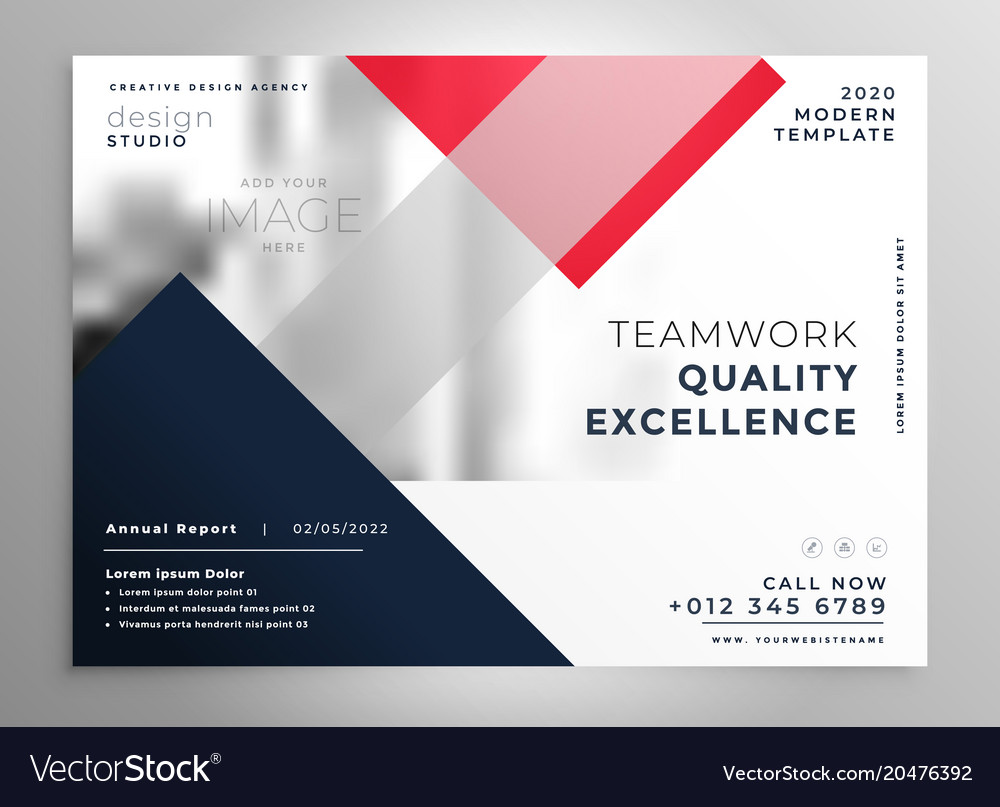 Modern Business Flyer Brochure Template Design Vector Image