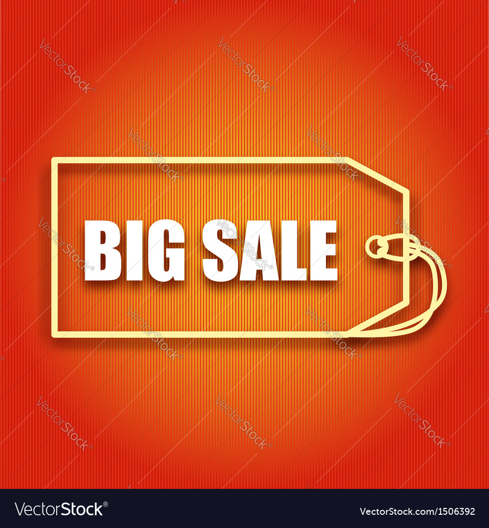 Poster with inscription big sale for your business vector image