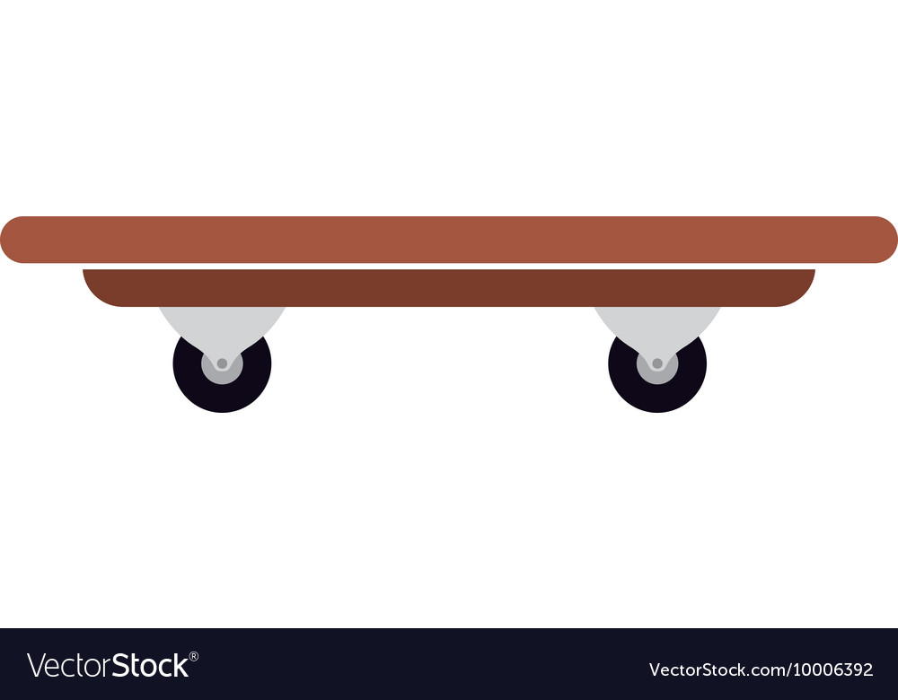Skateboard isolated icon design