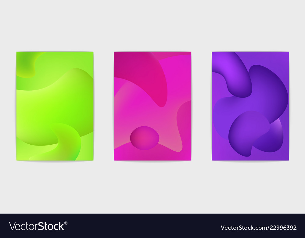 Three abstract posters