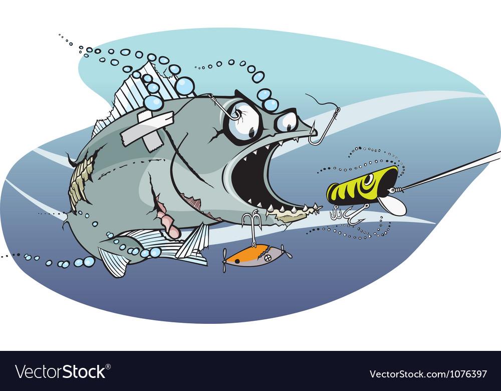 Bad azz fish 1 vector image