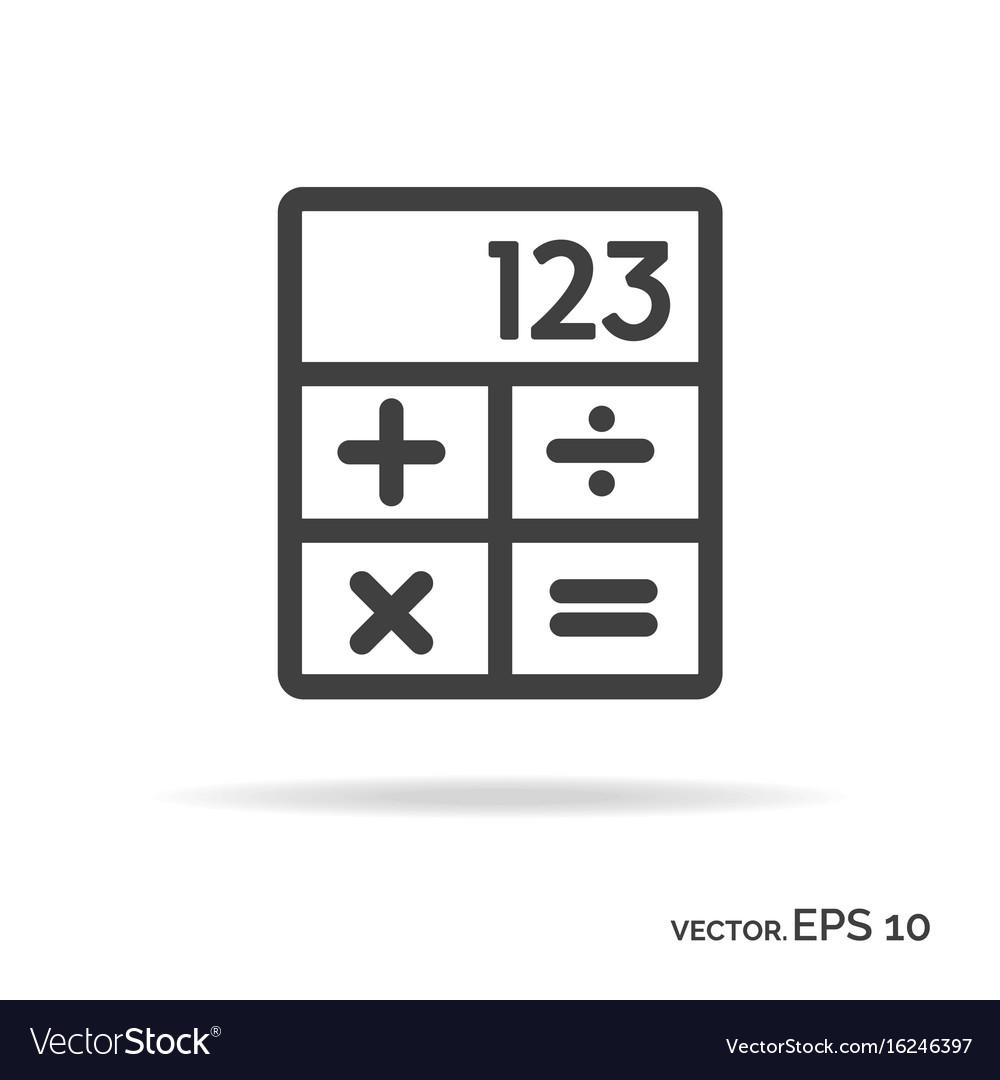 Calculator outline icon black color