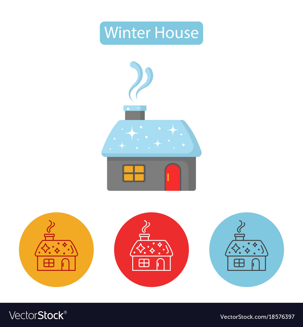 Christmas house with smoking chimney vector image