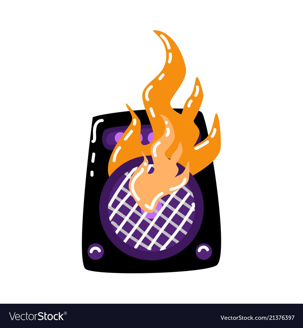 Flat burning loudspeaker icon