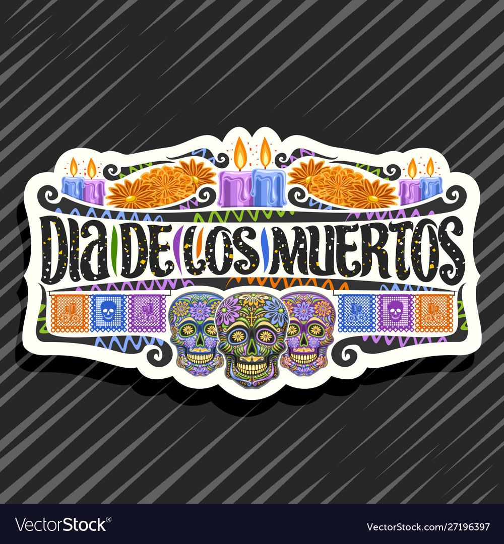 Logo for dia de los muertos
