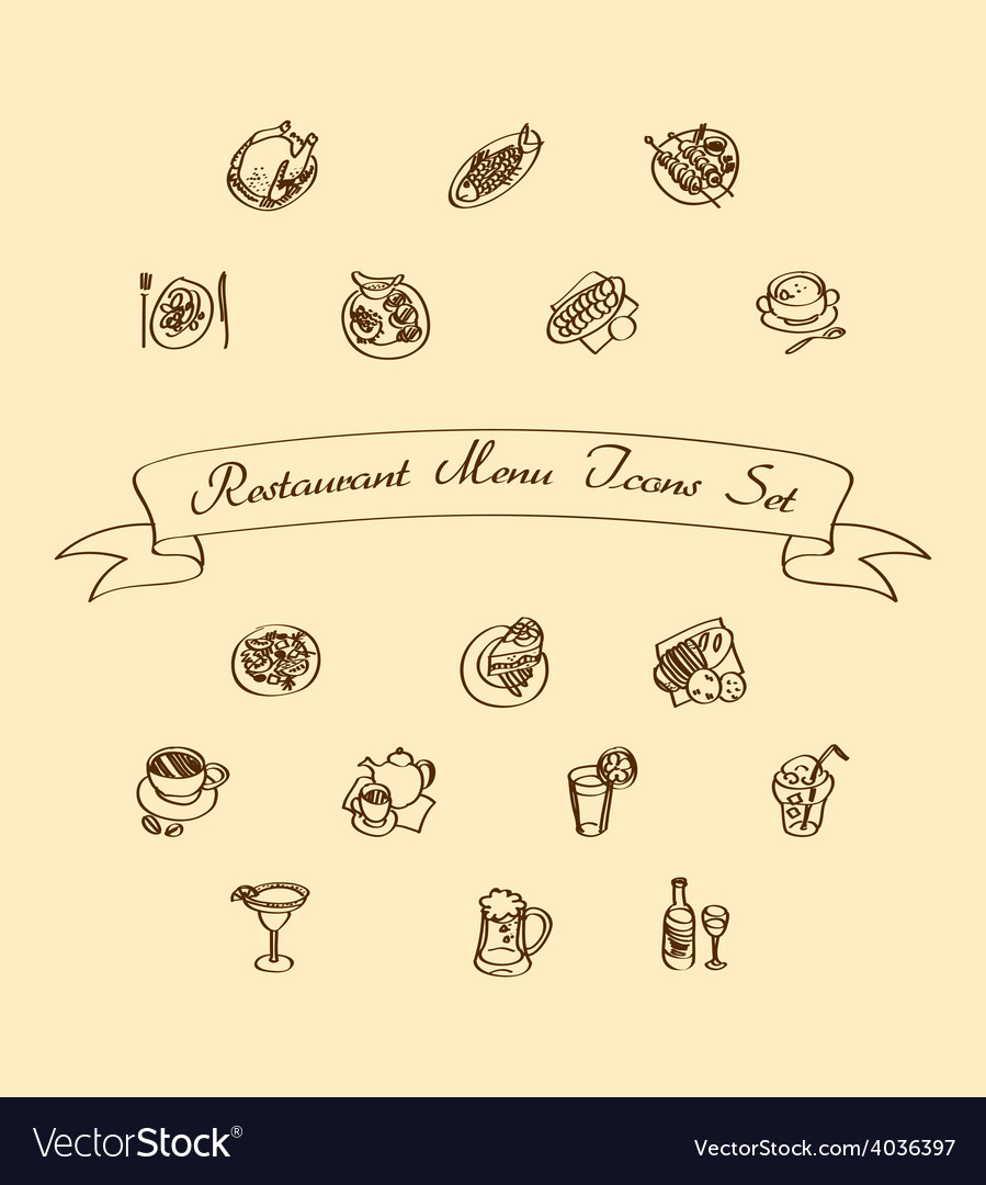 Menu Icons Set vector image
