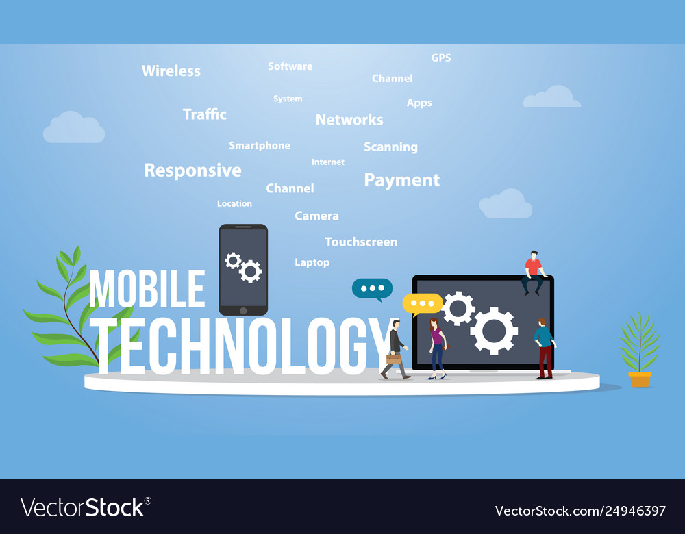Mobile technology concept with smartphone and