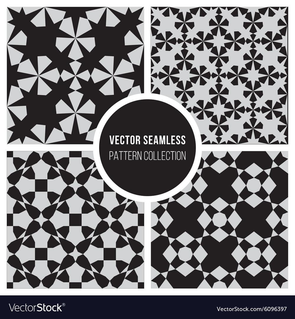 Seamless BW Geometric Pattern Collection