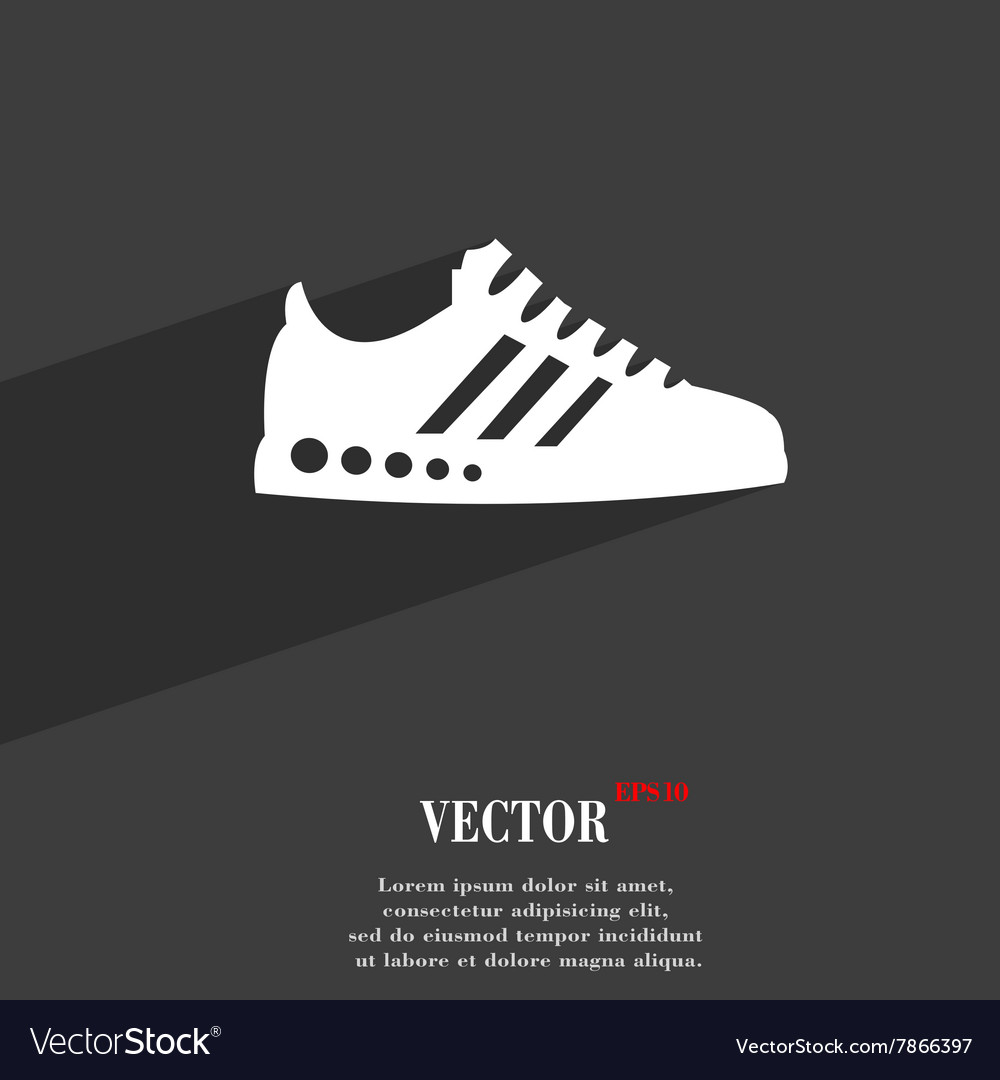 Sneakers symbol Flat modern web design with long