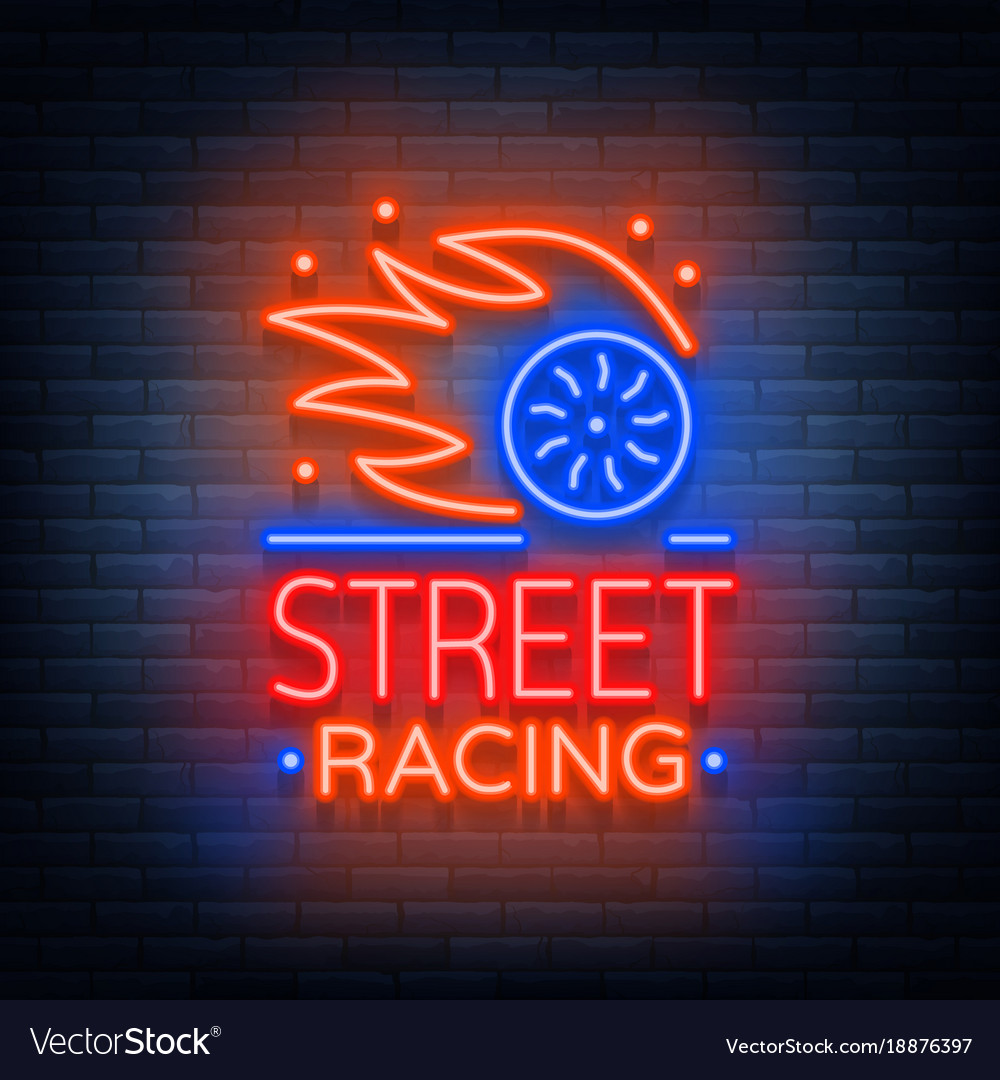 Street racing logo emblem template logo in