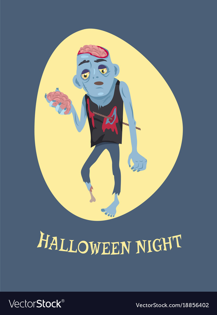 Halloween night and zombie