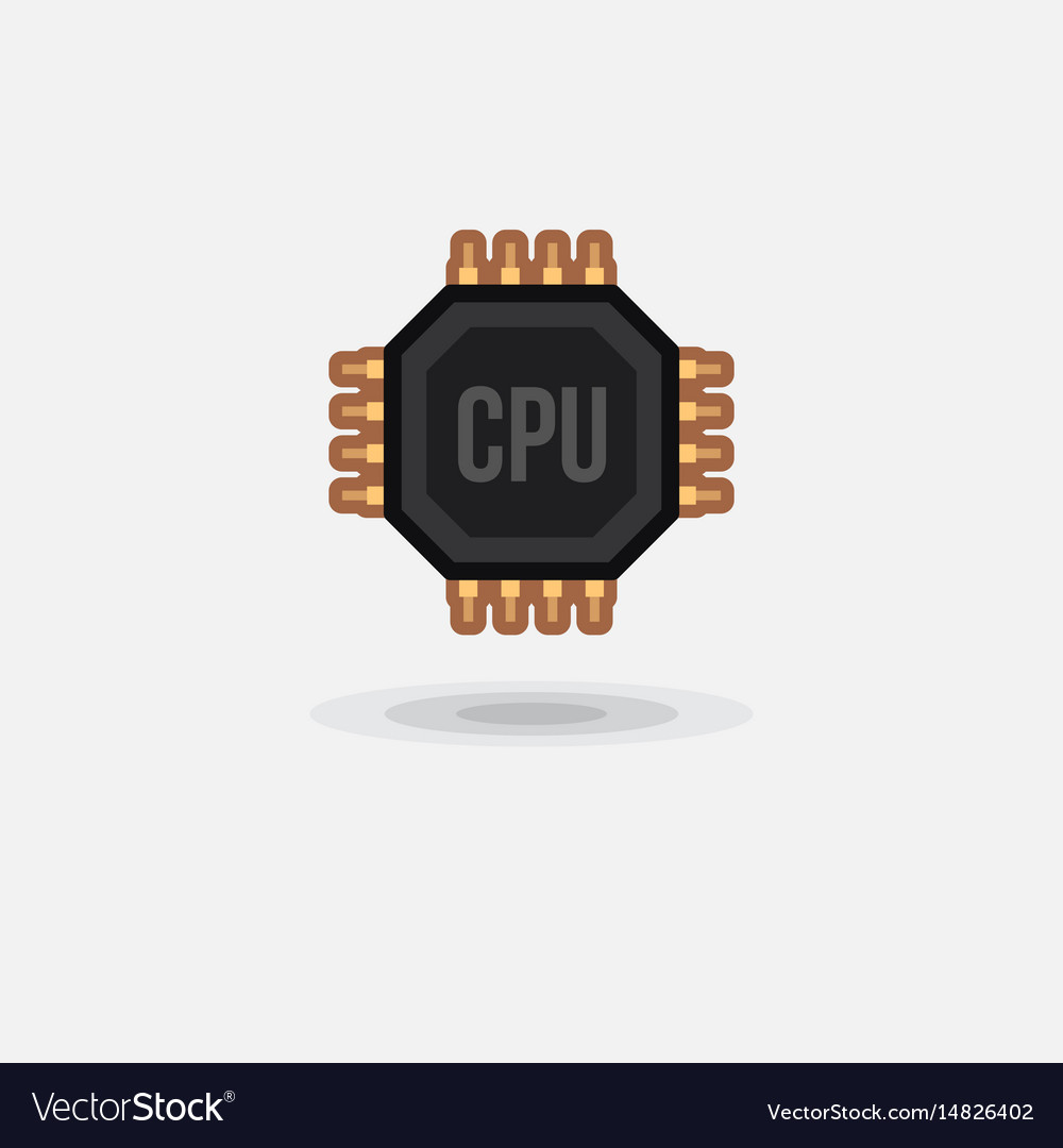 Icon processor gpu cpu isolated