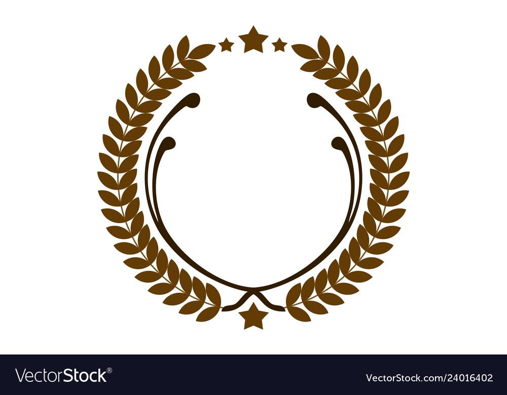 Leaves circle logo icon icon