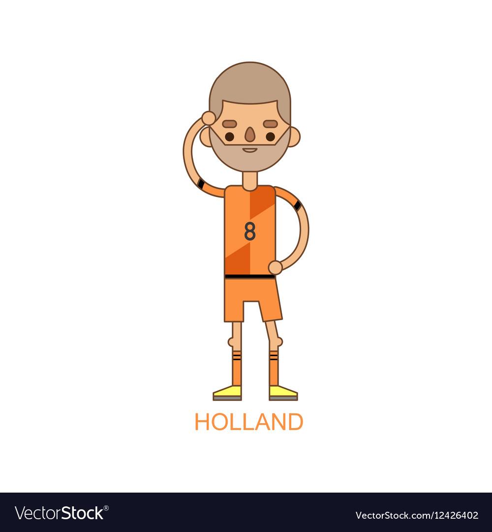National holland soccer football player vector image