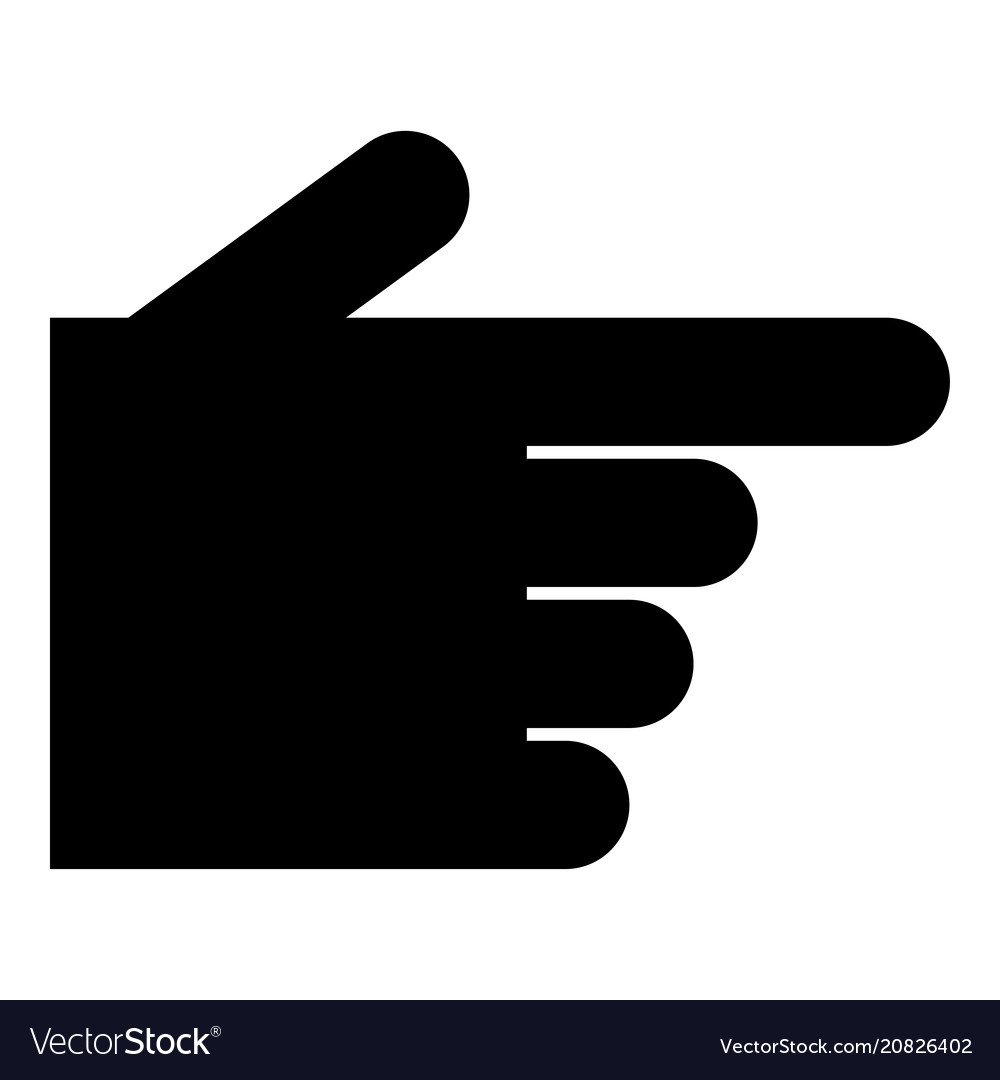 pointing hand icon black color flat style simple vector image vectorstock