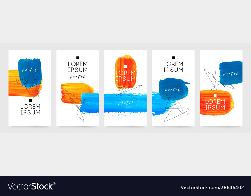 Social media story templates sale banners hand