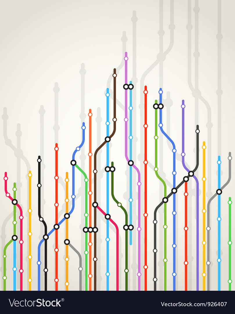 Abstract metro vector image