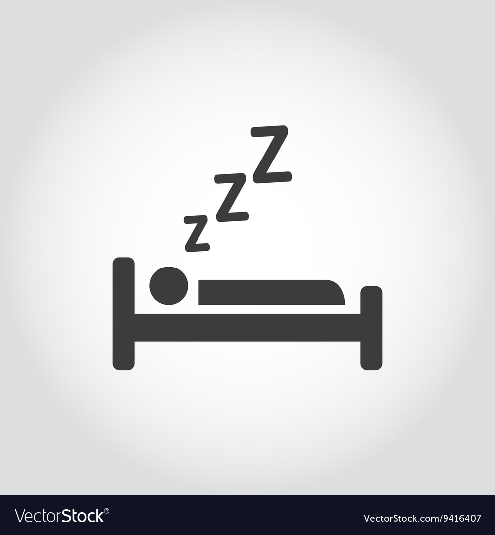 Black sleeping icon