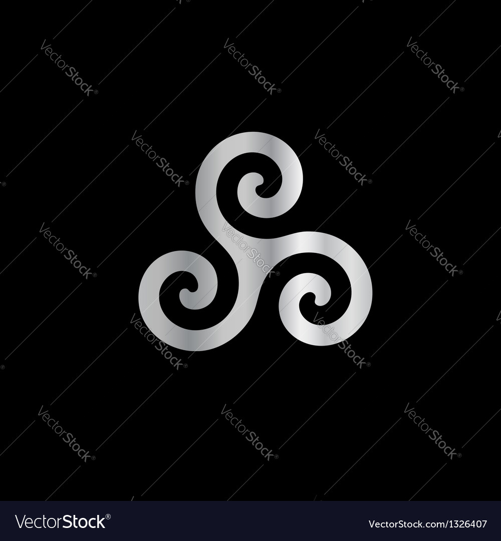 Celtic Neopaganism Triple Spiral Triskelion Vector Image
