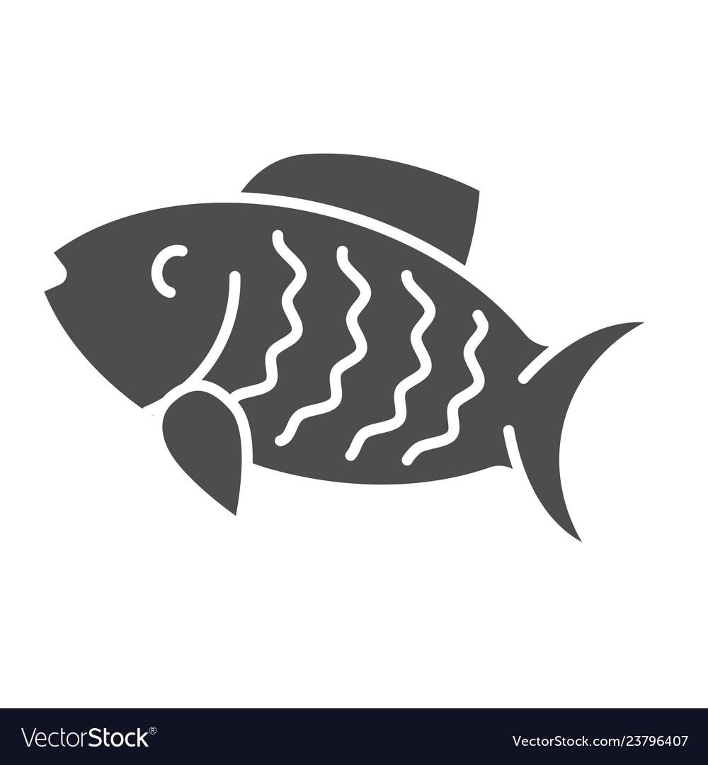 Fish solid icon animal